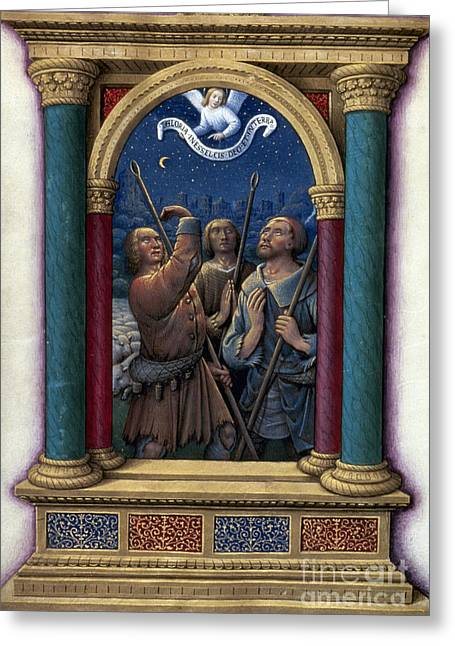 1510 Greeting Cards - Annunciation To Shepherds Greeting Card by Granger