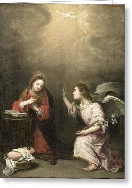 The Followers Greeting Cards - Annunciation to the Virgin Greeting Card by Celestial Images