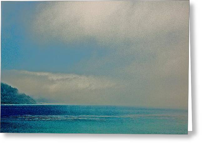 Ano Nuevo Fog  Greeting Card by Scott L Holtslander