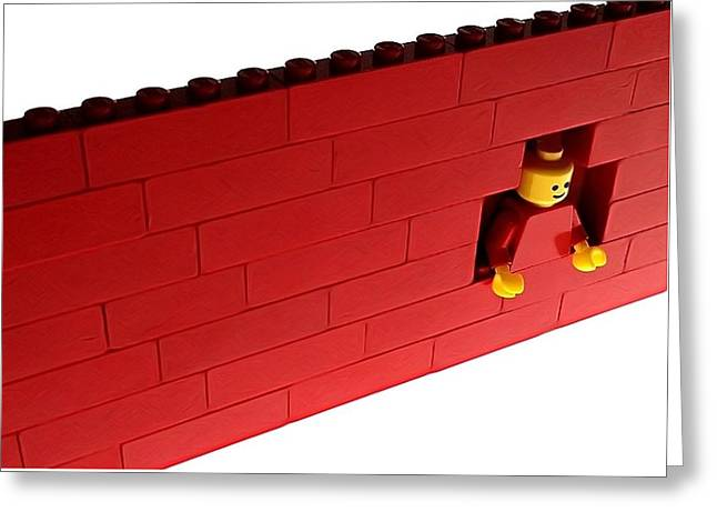 Another Brick In The Wall Greeting Card by Mark Fuller