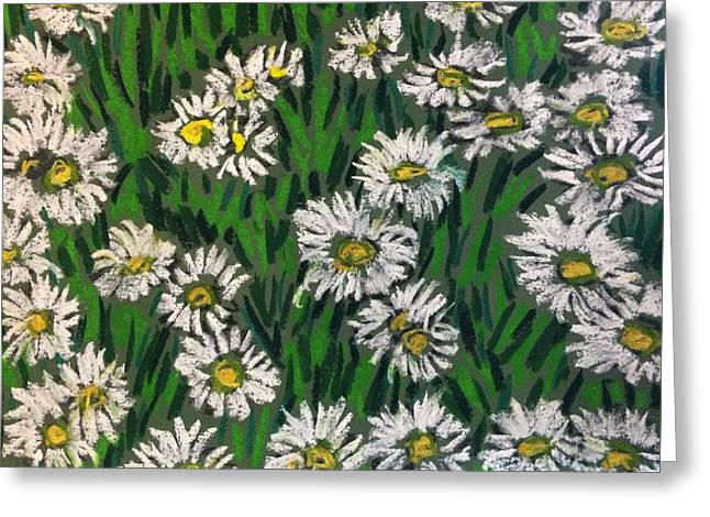 Daisies Pastels Greeting Cards - Another Daisy Pattern Greeting Card by Tim Bruneau