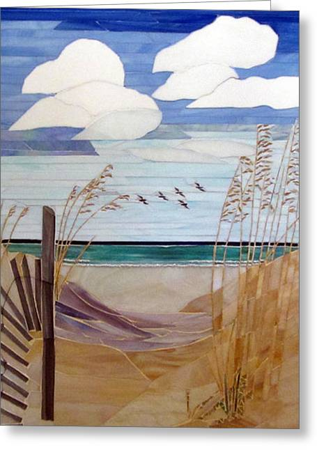 Sand Glass Greeting Cards - Another Day In Paradise Greeting Card by Marie Groves