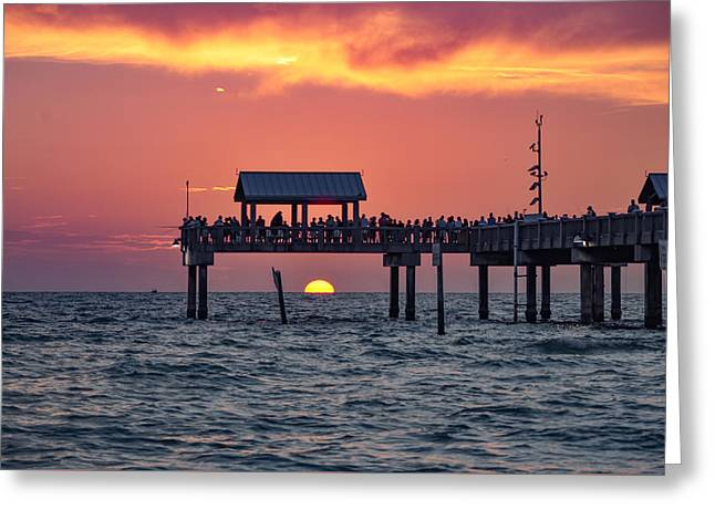 Another Day In Paradise On Clearwater Beach Greeting Card by Bill Cannon