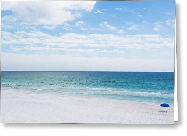 Blue Green Wave Greeting Cards - Another Day in Paradise Greeting Card by Shelby  Young