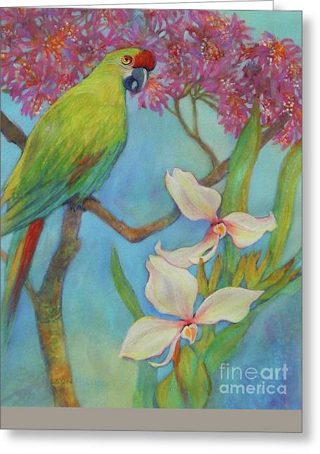 Water Fowl Greeting Cards - Another Day In The Tropics Greeting Card by Sharon Nelson-Bianco