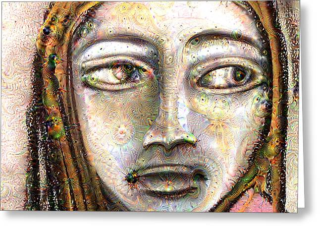 Adam Pastels Greeting Cards - Another Deep Dream Greeting Card by Amy Marie Adams