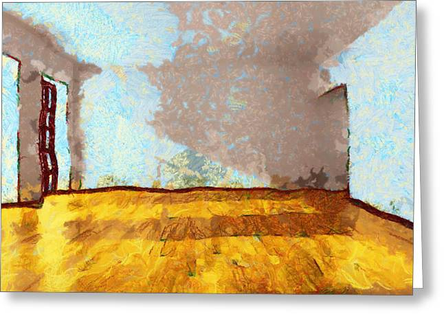 D.w. Paintings Greeting Cards - Another Empty Room In My Head  - Painting Greeting Card by Sir Josef  Putsche Social Critic