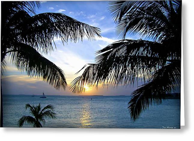 Minchak Greeting Cards - Another Key West Sunset Greeting Card by Joan  Minchak