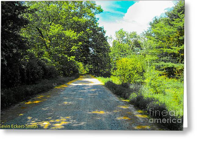 Rural Maine Roads Photographs Greeting Cards - Another October Road Greeting Card by Kevin Eckert Smith