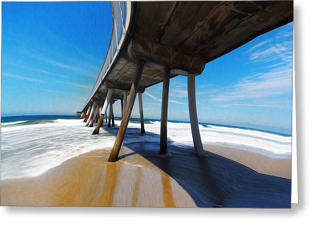 California Beaches Greeting Cards - Another Odd Day In Hermosa Greeting Card by Joe Schofield