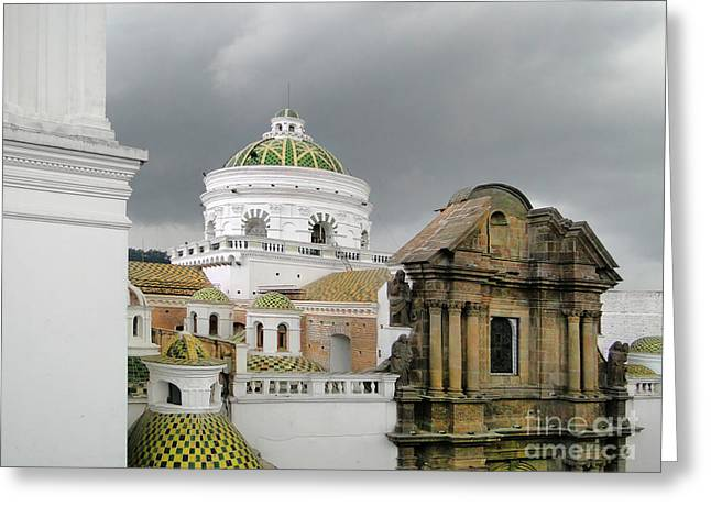 Al Central Greeting Cards - Another Quito Ecuador View Greeting Card by Al Bourassa