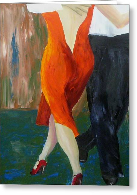 Keith Thue Greeting Cards - Another Tango Twirl Greeting Card by Keith Thue