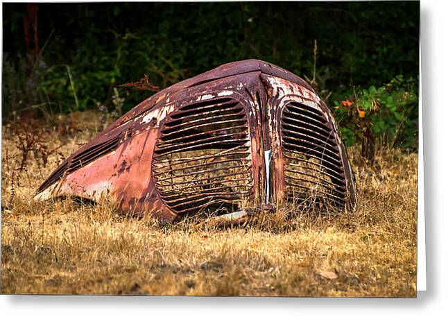 Rusted Cars Greeting Cards - Another Time Greeting Card by Anita Cumbra