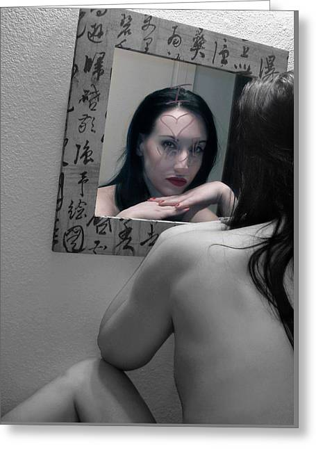 Alluring Photographs Greeting Cards - Another Version of Me - Self Portrait Greeting Card by Jaeda DeWalt