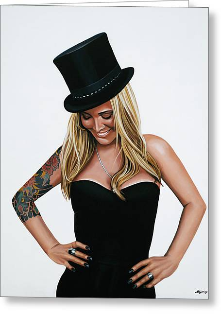 Anouk Glamour Painting  Greeting Card by Paul Meijering