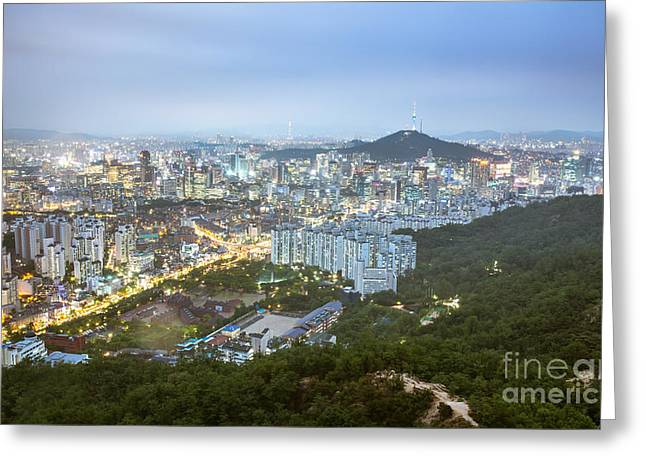 Recently Sold -  - Jeremy Greeting Cards - Ansan Mountain in Seoul Greeting Card by Jeremy Hansen