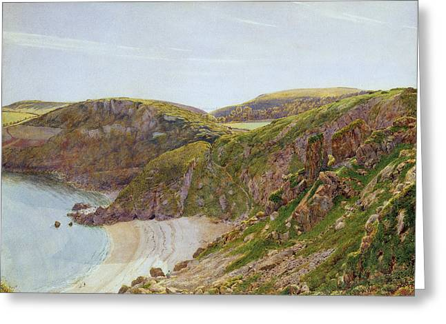 Devon Greeting Cards - Ansteys Cove Greeting Card by George Price Boyce
