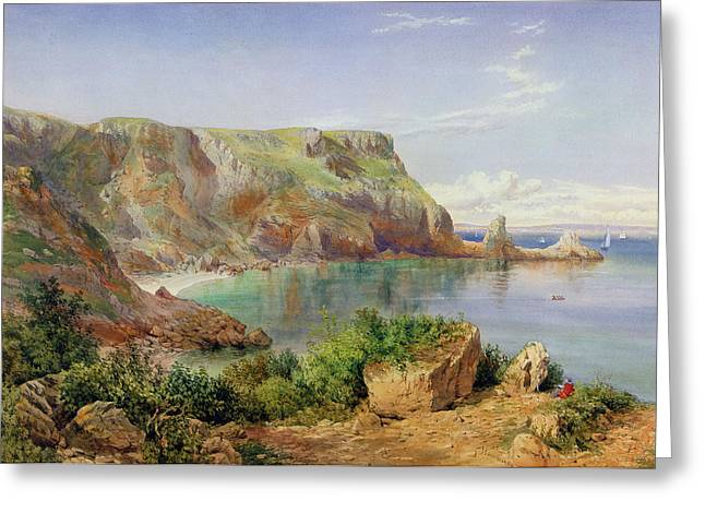 Ocean Scenes Greeting Cards - Anstys Cove Greeting Card by John William Salter