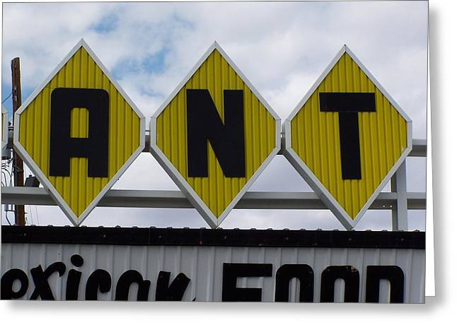 Roadside Art Greeting Cards - Ant Greeting Card by David Gianfredi