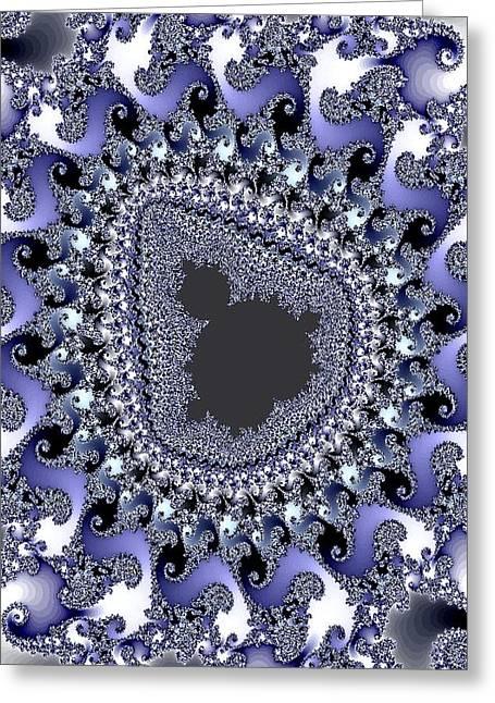 Abstract Digital Pastels Greeting Cards - Antartica Ice V b Greeting Card by Gert J Rheeders