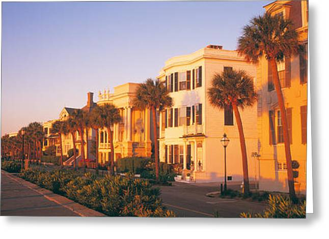 Antebellum Architecture Battery Greeting Card by Panoramic Images
