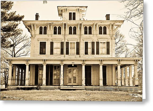 Antebellum Greeting Cards - Antebellum in Sepia Greeting Card by Colleen Kammerer
