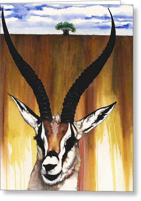 Spirt Greeting Cards - Antelope Greeting Card by Anthony Burks Sr