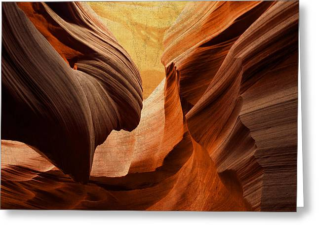 Antelope Canyon Greeting Card by Design Turnpike