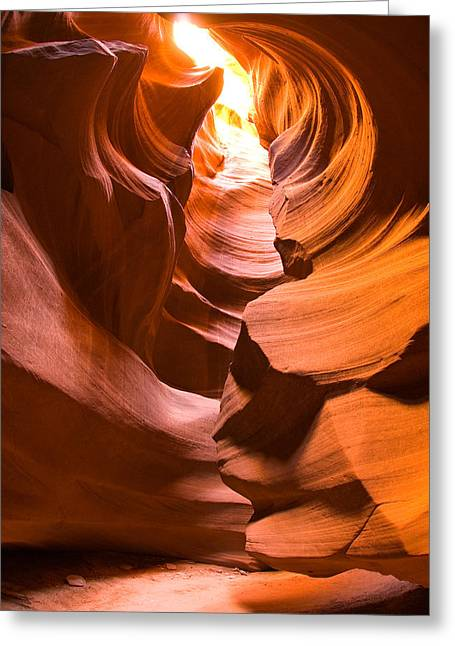 Ts Greeting Cards - Antelope Canyon Greeting Card by Harry Spitz