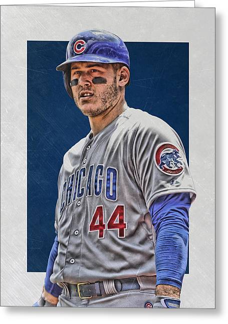Anthony Rizzo Chicago Cubs 3 Greeting Card by Joe Hamilton