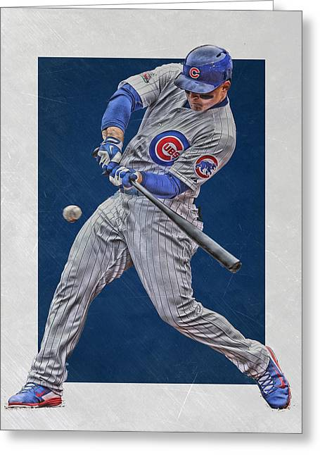Anthony Rizzo Chicago Cubs Art 1 Greeting Card by Joe Hamilton
