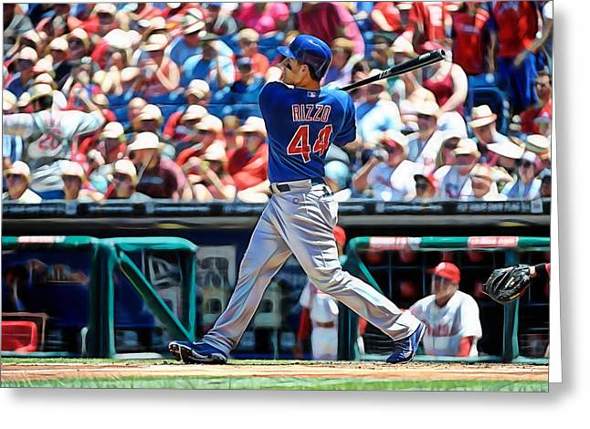 Anthony Rizzo Greeting Card by Marvin Blaine