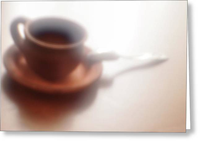 Anticipation Of Coffee Greeting Card by larisa Fedotova