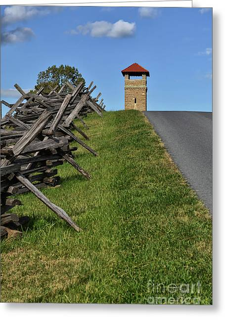Antietam Battlefield Observation Tower Greeting Card by Lois Bryan
