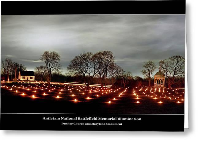 Antietam Panorama Greeting Card by Judi Quelland