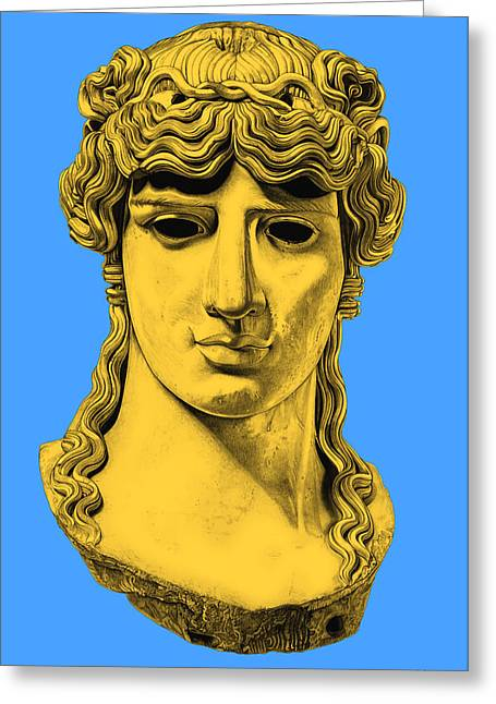 Roman Sculptures Greeting Cards - Antinous _ V4 Greeting Card by Bruce Algra