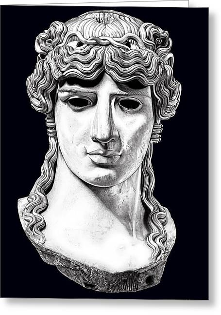 Greek Sculpture Sculptures Greeting Cards - Antinous _ V5 Greeting Card by Bruce Algra