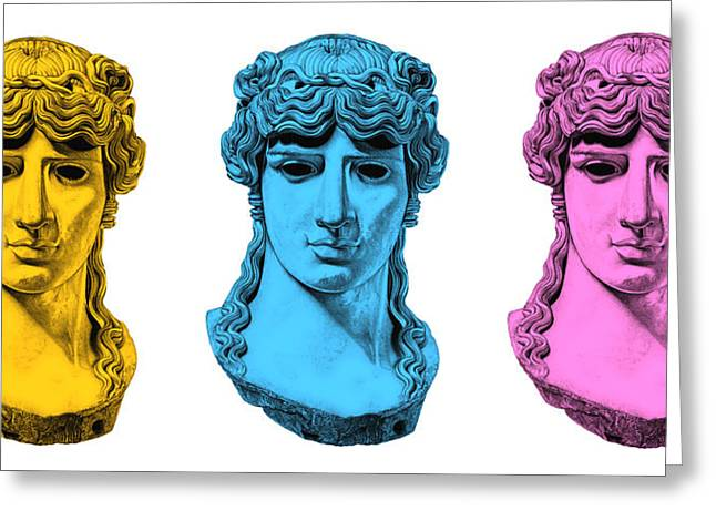 Roman Sculptures Greeting Cards - Antinous _ V7 Greeting Card by Bruce Algra