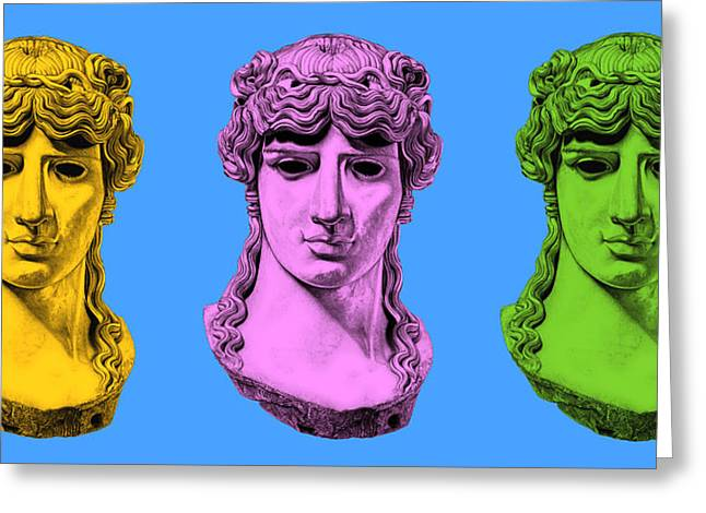 Greek Sculpture Sculptures Greeting Cards - Antinous _ V8 Greeting Card by Bruce Algra