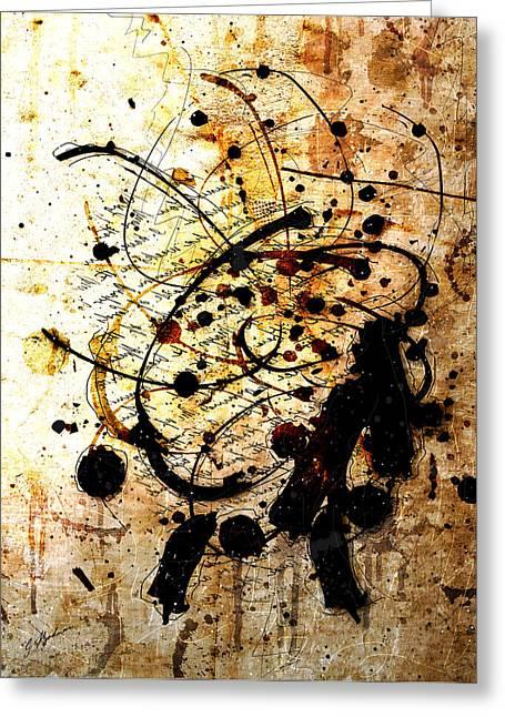Ink Art Greeting Cards - Antiqua Greeting Card by Gary Bodnar
