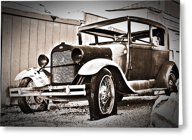 Mike Hill Greeting Cards - Antiquated Auto Greeting Card by Mike Hill