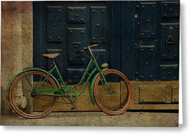 Michelin Greeting Cards - Antique Bicycle 1c Greeting Card by Andrew Fare