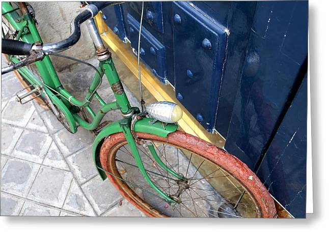 Michelin Greeting Cards - Antique Bicycle 2 Greeting Card by Andrew Fare