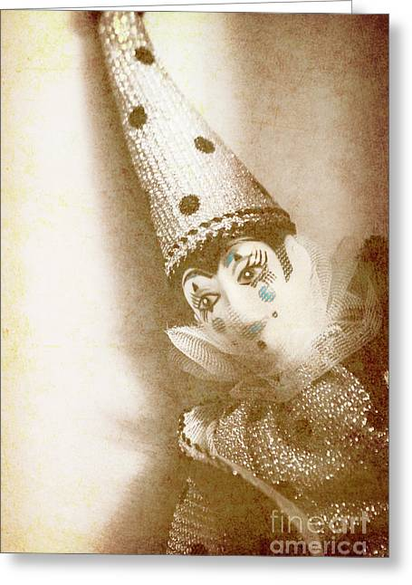 Antique Carnival Doll Greeting Card by Jorgo Photography - Wall Art Gallery