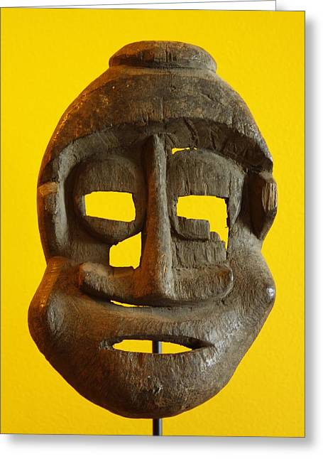 African Sculptures Greeting Cards - I am Umi I am Life Greeting Card by Shaakira Edison
