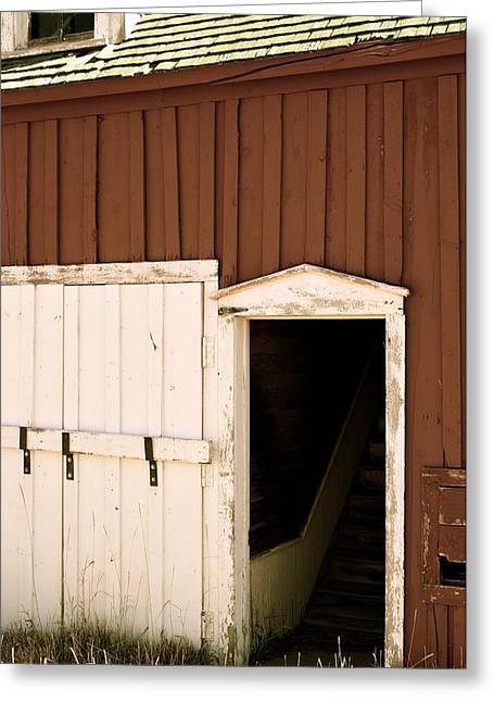 Barn Door Greeting Cards - Antique Entry Greeting Card by Shayla McCullough