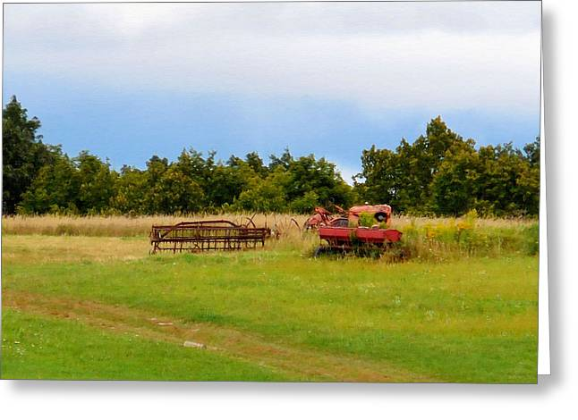 Antique Farm Equipment 1 Greeting Card by Lanjee Chee
