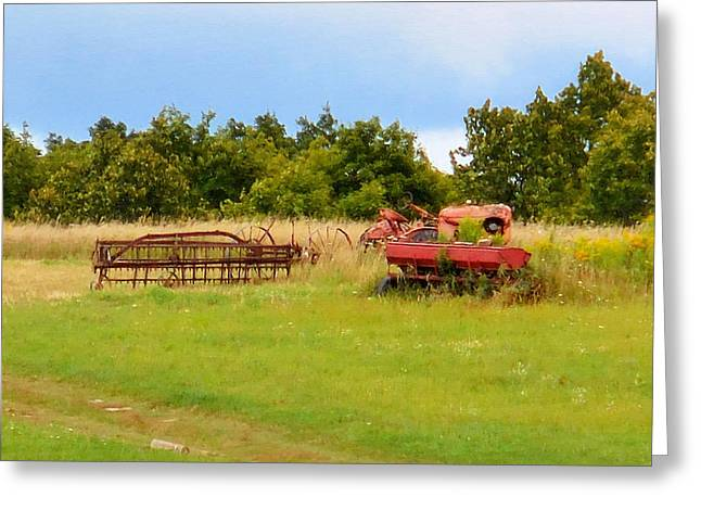 Antique Farm Equipment 2 Greeting Card by Lanjee Chee