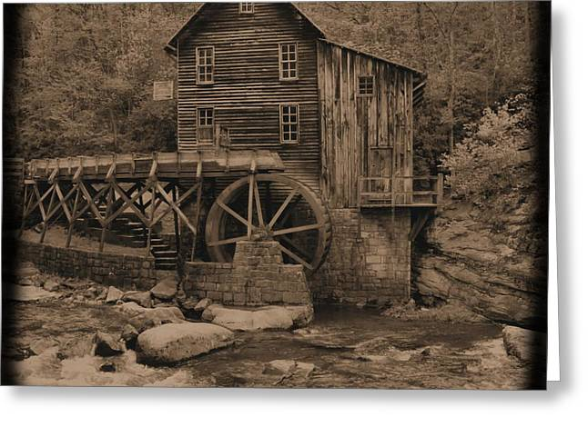 Antique Glade Creek Grist Mill Greeting Card by Dan Sproul