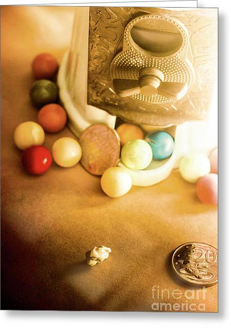 Antique Gumball Vending Machine  Greeting Card by Jorgo Photography - Wall Art Gallery
